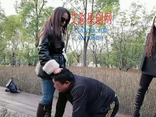 chinese femdom trample crush piss