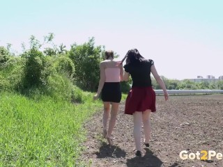 Double the fun – Two Pissing Girls compilation. Got2Pee