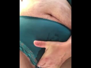After work wetting in panties