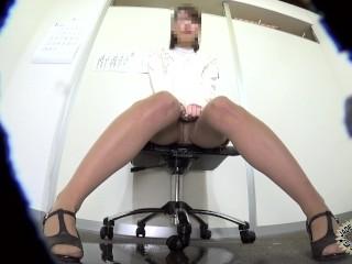 Shameful Peeing Fresh Office Lady