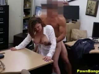 Desperate Mom Trades Her Big Tits & Pussy For Instant Cash