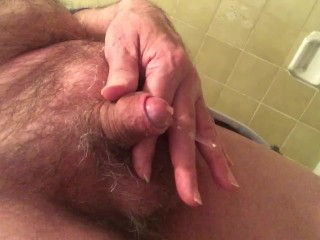 pissing and playing with my cock