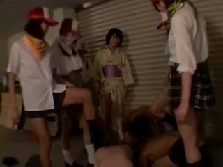 Japan SchoolGirl Trample,Femdom,Humiliation