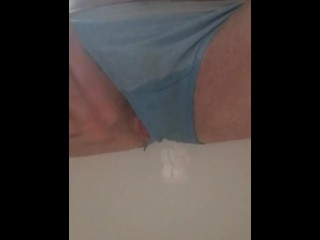 FTM pees in panties 2