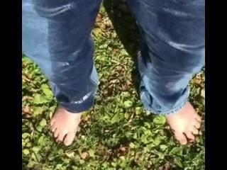 Peeing Myself in the Yard