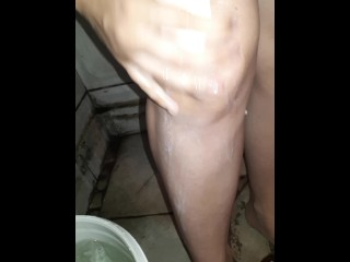 POV PEE DESPERATION girl challenging herself hold pee and piss in pants