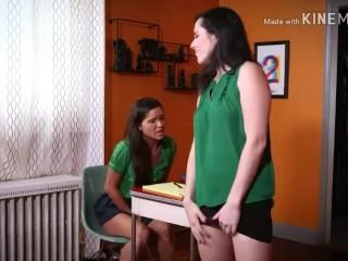 Teacher and student pee on floor