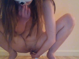 Piss or orgasm first? No 2 - pissing while anal masturbation + drinking