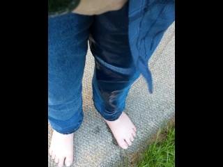 Outside Jeans Pissing
