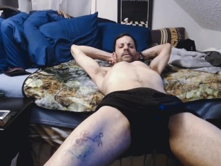 Sexy ass guy cant hold it anymore and pisses inhis boxers Big cock pee mess
