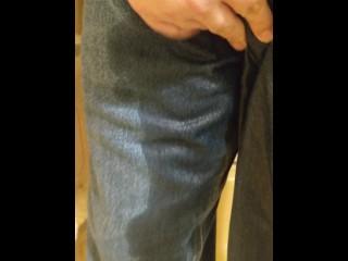 Jeans Pee Close Up