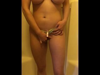 Busty Teen Pisses Through Her Panties