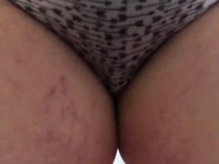 wetting panties in the kitchen