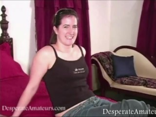 Casting Desperate Amateurs full figure nervous first time film hot mom wife