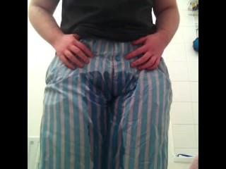 FTM Desperately Wets Pajama Pants