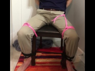 Sub boy tied to chair until pissing himself