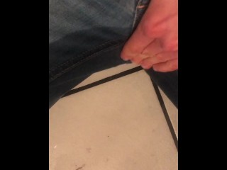 POV Desperate Girl wetting her jeans and masturbating