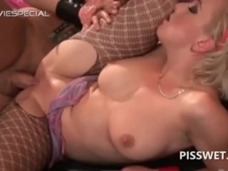 Piss on and inside pussy
