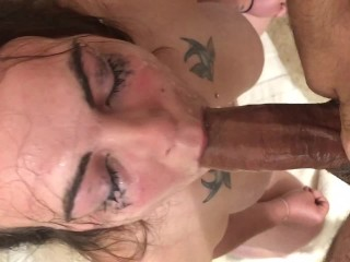 extreme spit deepthroating cock