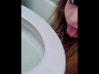 PISSING AND LICKING IT OFF THE TOILET SEAT (REQUEST VIDEO)