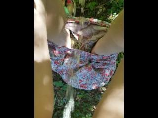Desperation Pee Outside On Nature Walk Piss On Shorts