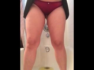 Babygirl pees in her cute little panties