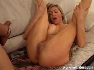 Horny blonde milf cant get enough-5