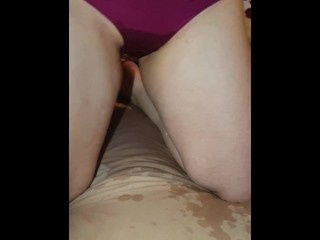 Gf is desperate to pee, but she just lets go while masturbating. So cute!