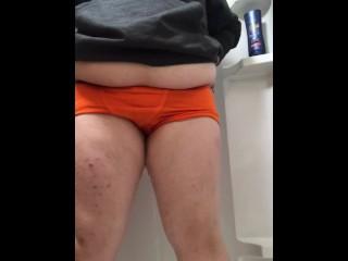 Tranny boy pisses boxers