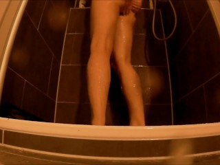 Pee desperation in tight panties (full bladder) and shower afterwards