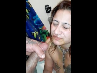 Latina drinks pee again